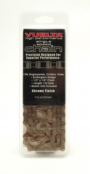 "Vuelta Chain Single Speed ½"" X 1/8"" Chrome Finish"
