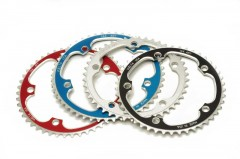 Vuelta SE Flat Chainrings 144mm BCD Black, Silver, Blue, Red