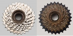 SunRun 8 Speed Freewheels Nickel or Brown Finish