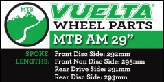 "Vuelta MTB AM 29"" Wheel Replacement Parts"