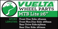 "Vuelta MTB Lite 26"" Wheel Replacement Parts"