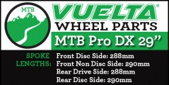 "Vuelta MTB Pro DX 29"" Wheel Replacement Parts"