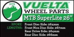 "Vuelta MTB Superlite 26"" Wheel Replacement Parts"