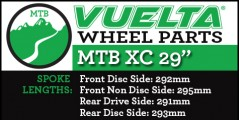 "Vuelta MTB XC 29"" Wheel Replacement Parts"