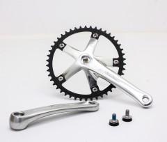 Vuelta Pista Team Fixed Gear / Track Crankset, 46T, 165 / 170mm Silver