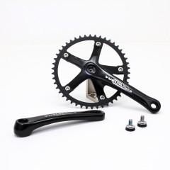 Vuelta Pista Team Fixed Gear / Track Crankset, 46T, 165 / 170mm Black