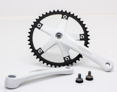 Vuelta Pista Team Fixed Gear / Track Crankset, 46T, 165 / 170mm White