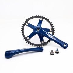 Vuelta Pista Team Fixed Gear / Track Crankset, 46T, 165 / 170mm Blue