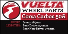 Vuelta Carbon 50A Wheel Replacement Parts