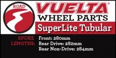 Vuelta Corsa SuperLite Tubular Wheel Replacement Parts
