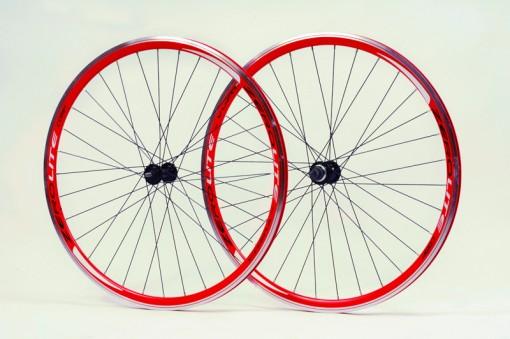 Zerolite Track Comp 700C Wheelset Single Speed Red