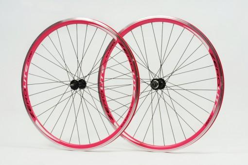 Zerolite Track Comp 700C Wheelset Single Speed Pink