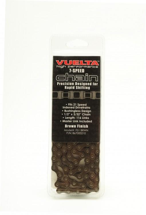 Vuelta Chain 7 Speed 7.1mm Brown Finish