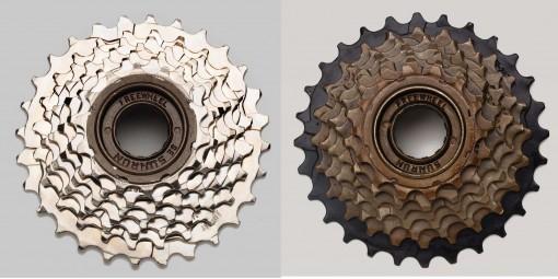 SunRun 6 Speed Freewheels Nickel or Brown Finish