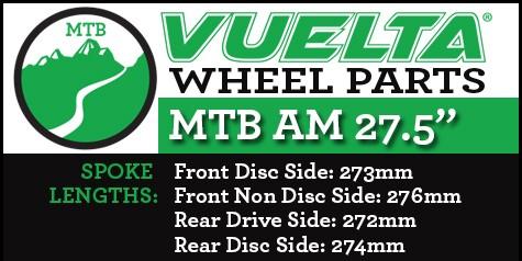 "Vuelta MTB AM 27.5"" Wheel Replacement Parts"