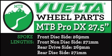 "Vuelta MTB Pro DX 27.5"" Wheel Replacement Parts"