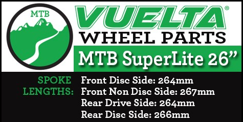 "Vuelta MTB Superlite 26"" Wheel Replacement Parts"