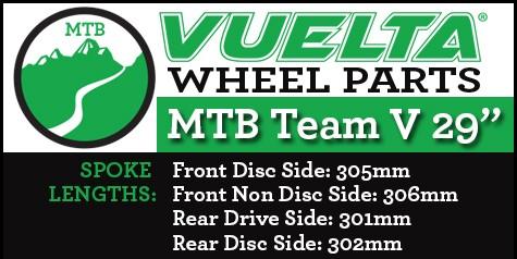 "Vuelta MTB Team V 29"" Wheel Replacement Parts"