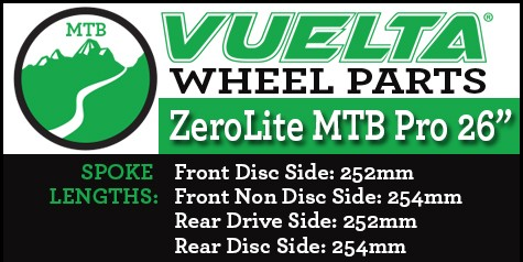 "ZeroLite MTB Pro 26"" Wheel Replacement Parts"