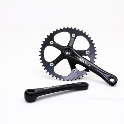 Vuelta Pista Comp Fixed Gear / Track Crankset, 46T, 165 / 170mm Black