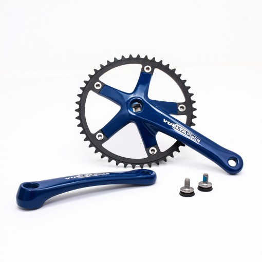 Vuelta Pista Team Fixed Gear / Track Crankset, 46T, 165 / 170mm Blue