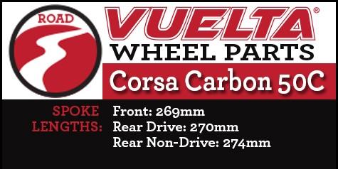 Vuelta Carbon 50C Wheel Replacement Parts
