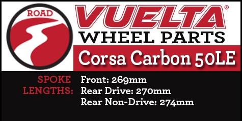 Vuelta Carbon 50LE Wheel Replacement Parts