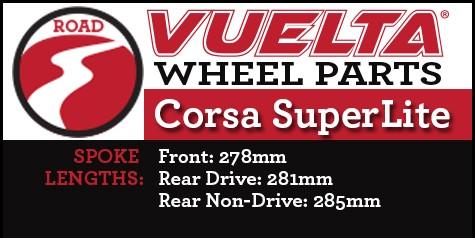 Vuelta Corsa Superlite Wheel Replacement Parts