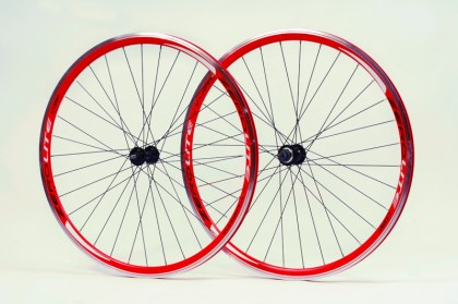 Zerolite Track Comp 700C Wheelset Single Speed Red