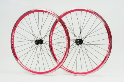 Zerolite Track Comp 700C Wheelset Single Speed Pink