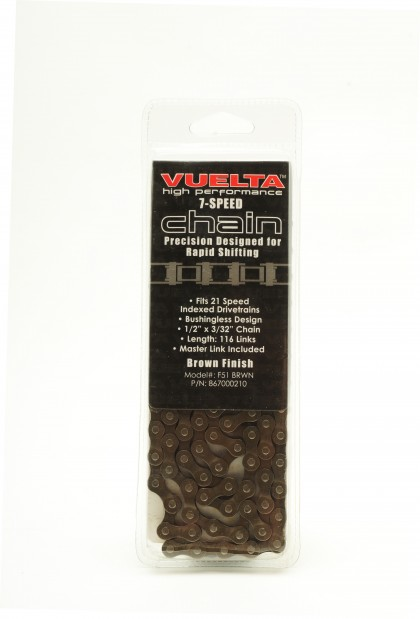 Vuelta Chain 7 Speed 7.1mm Brown Finish