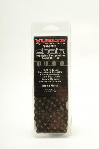 Vuelta Chain 5/6 Speed 7.7mm Brown Finish
