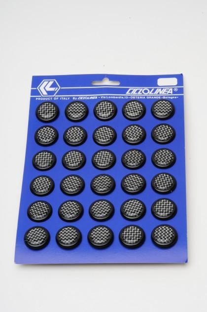 Handlebar Plugs Carbon Look 30/Card