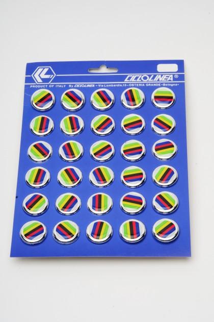 Handlebar Plugs Champion Stripes 30/Card