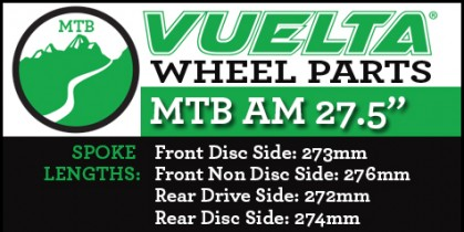 "Vuelta MTB AM 27.5"" Wheel Replacement Parts"