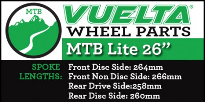 "Vuelta MTB Lite 26"" Wheel Replacement Parts"