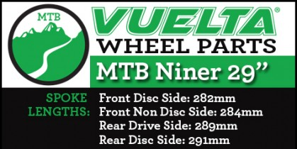 "Vuelta MTB Niner 29"" Wheel Replacement Parts"