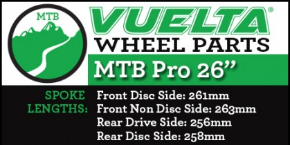 "Vuelta MTB Pro 26"" Wheel Replacement Parts"