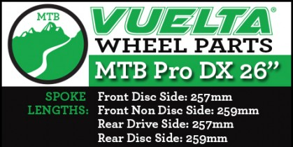 "Vuelta MTB Pro DX 26"" Wheel Replacement Parts"