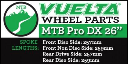"Vuelta MTB Pro DX 26"" Wheel Replacement Parts"