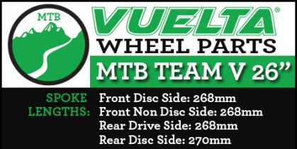 "Vuelta MTB Team V 26"" Wheel Replacement Parts"