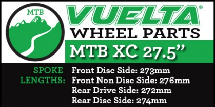 "Vuelta MTB XC 27.5"" Wheel Replacement Parts"
