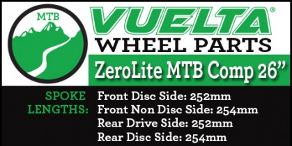 "ZeroLite MTB 26"" Comp Wheel Replacement Parts"