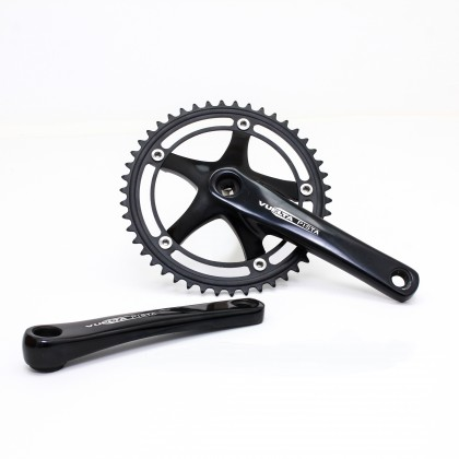 Vuelta Pista Pro Fixed Gear / Track Crankset, 46T, 165 / 170mm Black
