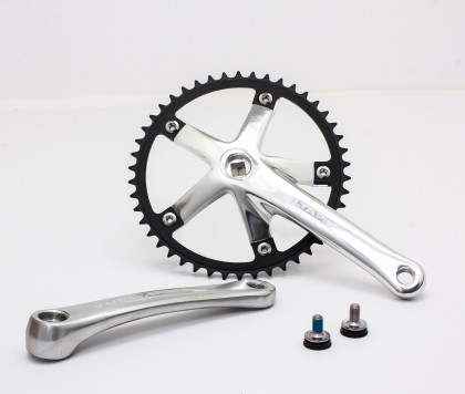 Vuelta Pista Team Fixed Gear / Track Crankset, 46T, 165 / 170mm Silver