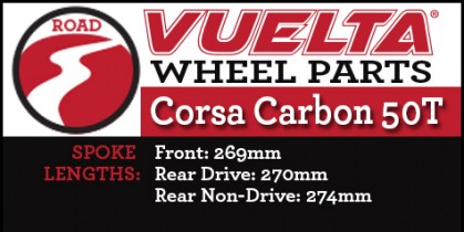 Vuelta Carbon 50T Wheel Replacement Parts